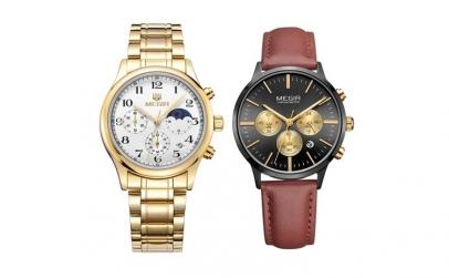 Set ceas barbatesc + ceas dama Megir