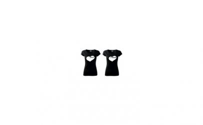 Pachet 2 tricouri negre de dama
