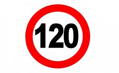 Abtibild limitare viteza 120