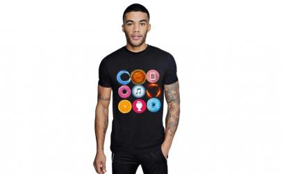 Tricou barbati negru - Circle