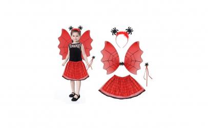 Costum Halloween vrajitoare cu bentita