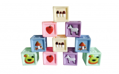 Set 10 cuburi moi cu desene