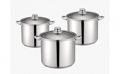 Set 3 oale din  inox cu  fund in 3