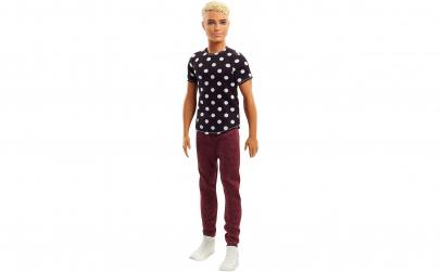 Papusa Ken in tricou cu buline - blond