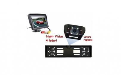 Set suport numar auto cu camera video