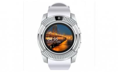 Ceas Smartwatch V8 Alb HandsFree