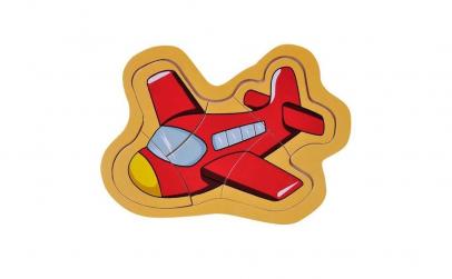 Puzzle din lemn pentru copii avion