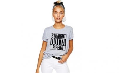 Tricou dama gri - Straight Outta Pipera