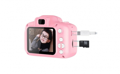 Camera foto copii + Card SD32GB, roz