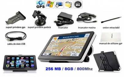 GPS Auto 7 inch HD, 256MB / 8GB / 800Mhz