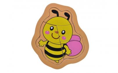 Puzzle din lemn pentru copii albinuta