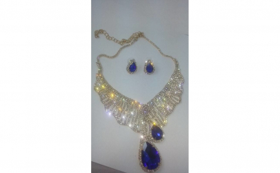 Set bijuterii Shine Blue Crystal