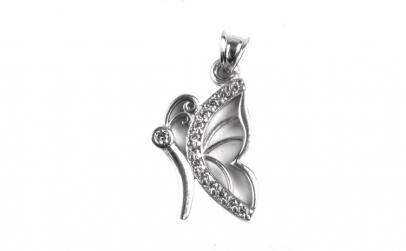 Pandantiv Argint 925 Contur Fluture cu