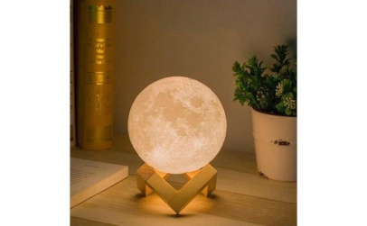 Lampa moon + Bec 3D efect de stelute