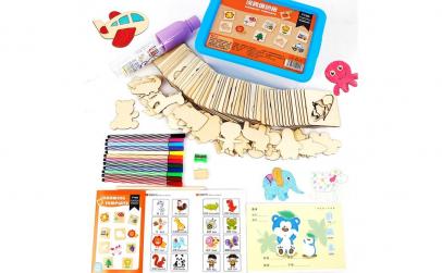 Set Montessori Sabloane desen, 56 piese