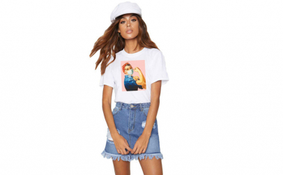 Tricou dama alb - Girl Power in Pandemie