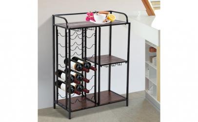Suport 21 sticle de vin 3 compartimente