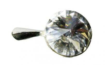 Pandantiv Rivoli, Alb/Cristal, Argint