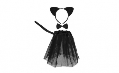 Set costum pisicuta neagra pentru