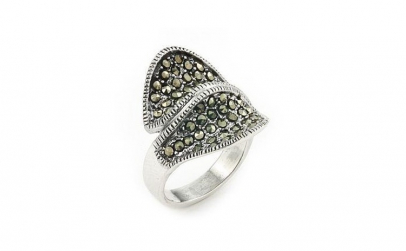 Inel argint 925 cu marcasite