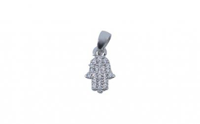 Pandantiv Argint 925 Hamza cu Zirconii