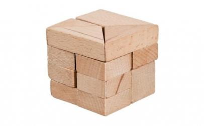 Joc logic IQ   Cub din lemn