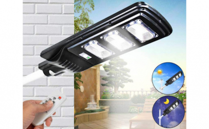 Lampa Stradala LED 90W Cu Panou Solar si