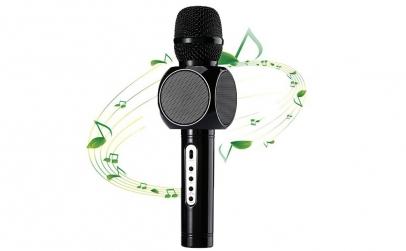 Microfon Bluetooth cu difuzor dublu