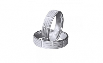 Inel argint 925 rodiat model verigheta