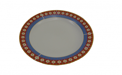 Set 6 farfurii din ceramica, model auriu