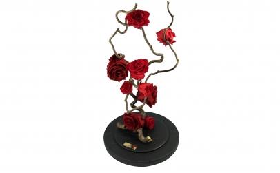 Aranjament 9 trandafiri criogenati rosii