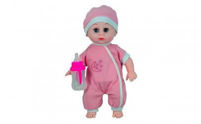 Bebelusul fetita cu sunete si biberon