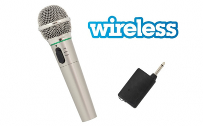Microfon Wireless/Fir, lungime cablu 3m
