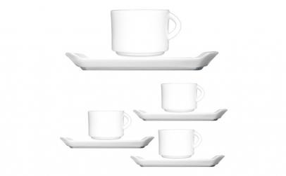 Set cafea din portelan cu 4 cescute 70