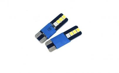 Set 2 lumini plafoniera, albastru si alb