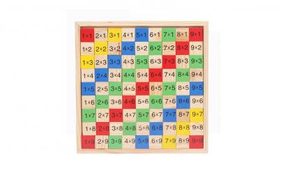 Tabla inmultirii Montessori, lemn 100%