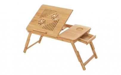 Masuta laptop Reglabil Bambus