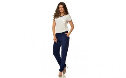 Pantalon de dama bleumarin