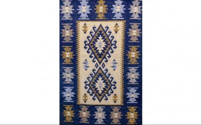 Covor tesut, 60X150 Albastru