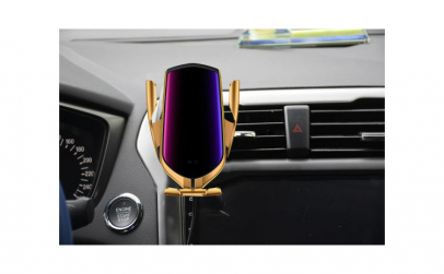Incarcator Auto Wireless Luxury GOLD