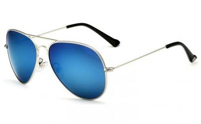 Ochelari de soare Aviator Bleu Oglinda