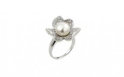 Inel argint 925 in forma de floare cu