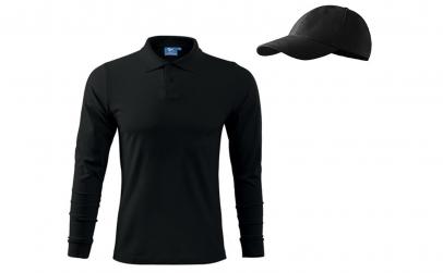Bluza polo neagra barbati + sapca