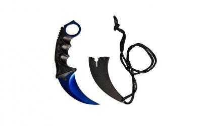 Cutit CS:GO Karambit Blue Steel cu teaca