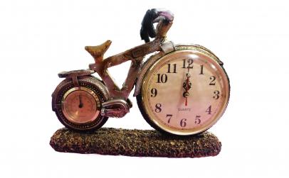 Ceas de birou - macheta bicicleta
