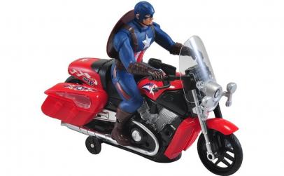 Jucarie Captain America pe motocicleta