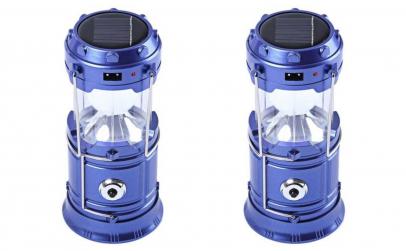 set 1+1 felinar albastru