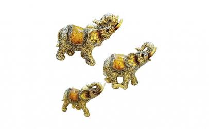 Set decorativ 3 elefanti