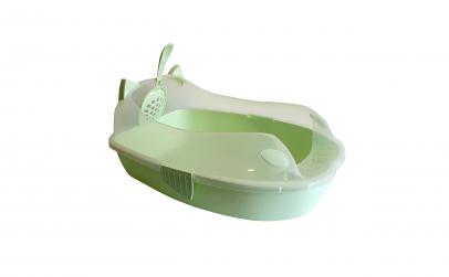 Litiera pentru pisici, verde