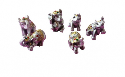 Set decorativ 6 elefantei,  10LF